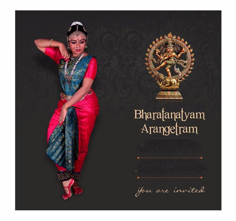 Bharathanatiyam Invitation