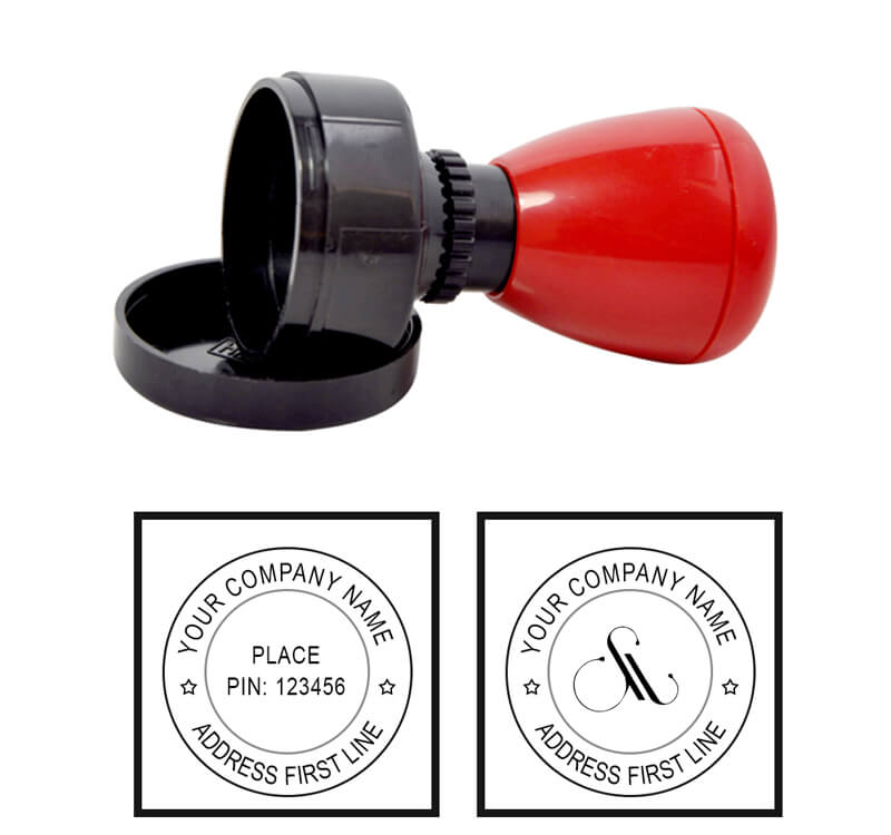Round Seal Rubber Stamp