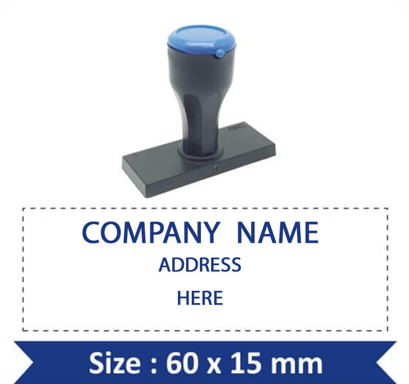 Address Seal Rubber Stamp