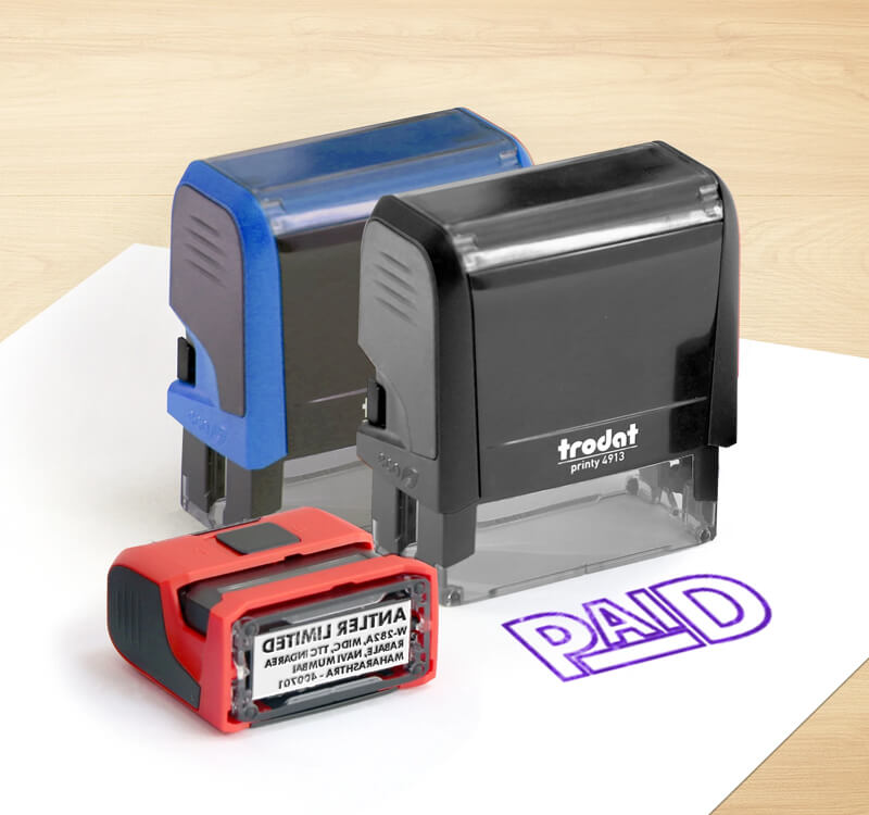 Auto Ink Fill Rubber Stamp