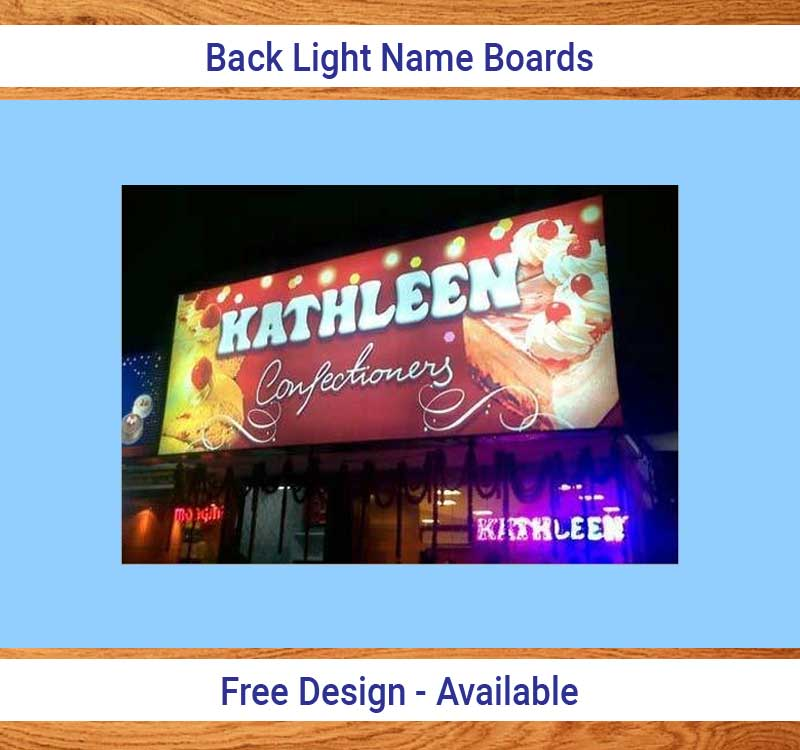 Back Light Name Board