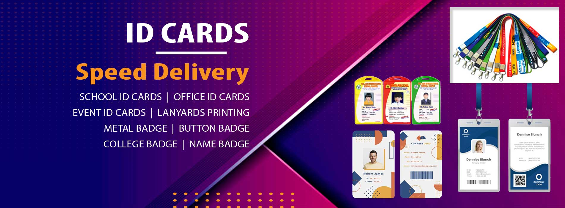 5 ID Cards & Lanyards